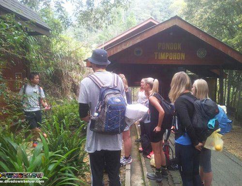 Mount Kinabalu guides' safety briefing.